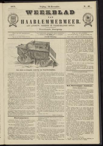 Weekblad van Haarlemmermeer 1873-11-14