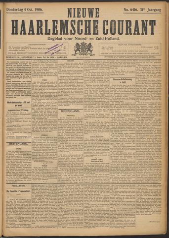 Nieuwe Haarlemsche Courant 1906-10-04