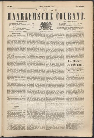 Nieuwe Haarlemsche Courant 1884-10-05