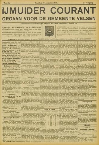 IJmuider Courant 1916-08-12