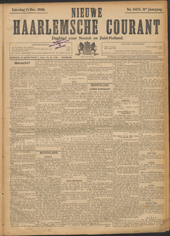 Nieuwe Haarlemsche Courant 1906-12-15