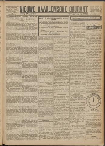 Nieuwe Haarlemsche Courant 1923-04-27