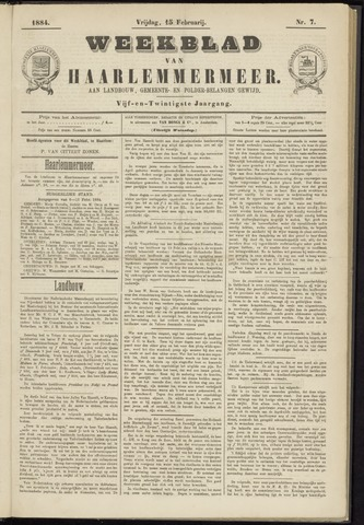 Weekblad van Haarlemmermeer 1884-02-15