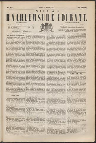 Nieuwe Haarlemsche Courant 1885-03-01