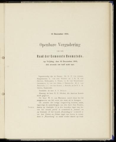 Raadsnotulen Heemstede 1910-12-16