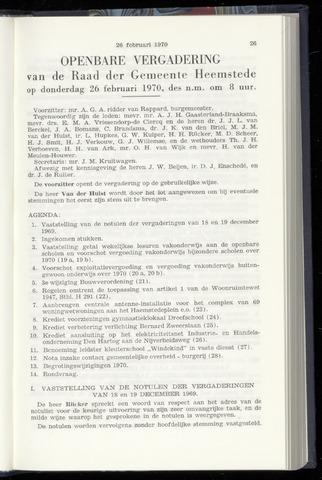 Raadsnotulen Heemstede 1970-02-26