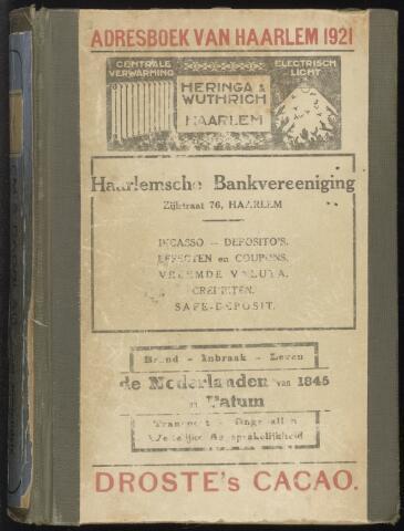 Adresboeken Haarlem 1921