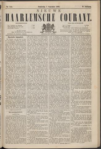 Nieuwe Haarlemsche Courant 1881-09-01