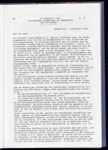Raadsnotulen Heemstede 1990-02-22