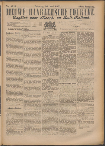 Nieuwe Haarlemsche Courant 1903-06-20
