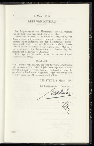 Raadsnotulen Heemstede 1944-03-08