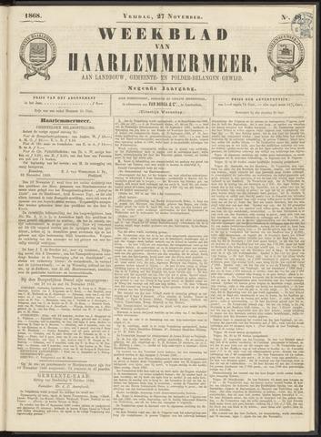 Weekblad van Haarlemmermeer 1868-11-27