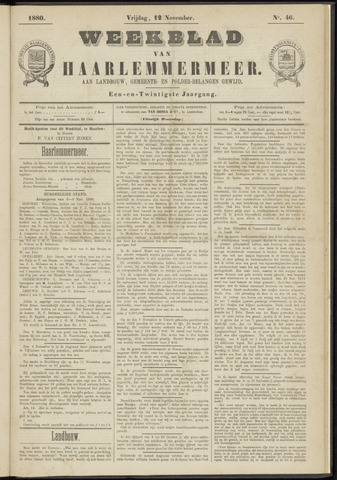 Weekblad van Haarlemmermeer 1880-11-12
