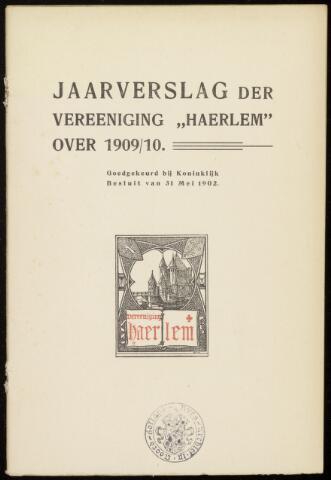 Jaarverslagen en Jaarboeken Vereniging Haerlem 1909