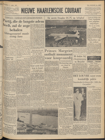 Nieuwe Haarlemsche Courant 1957-04-11