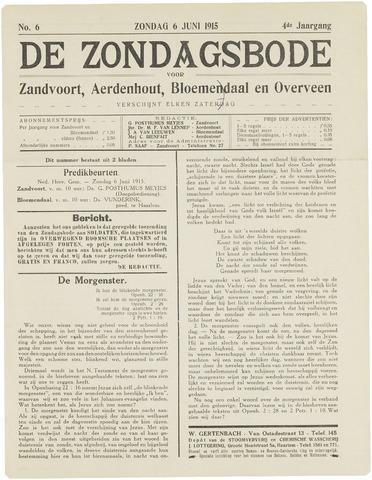 De Zondagsbode voor Zandvoort en Aerdenhout 1915-06-06