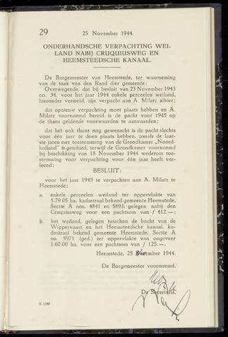 Raadsnotulen Heemstede 1944-11-25