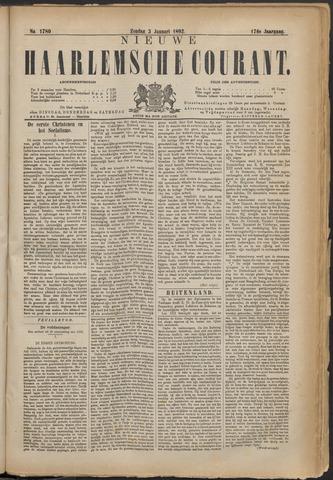 Nieuwe Haarlemsche Courant 1892-01-03