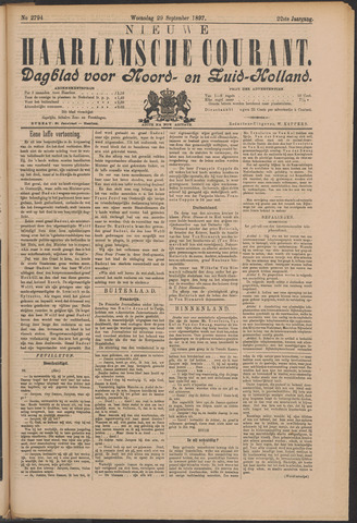 Nieuwe Haarlemsche Courant 1897-09-29