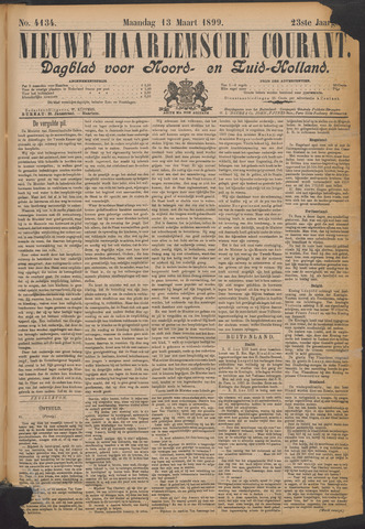 Nieuwe Haarlemsche Courant 1899-03-13