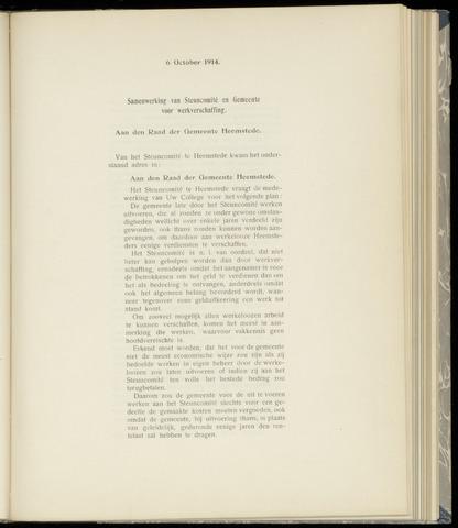 Raadsnotulen Heemstede 1914-10-06