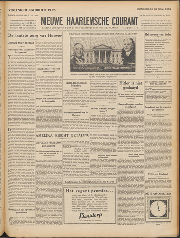 Nieuwe Haarlemsche Courant 1932-11-24