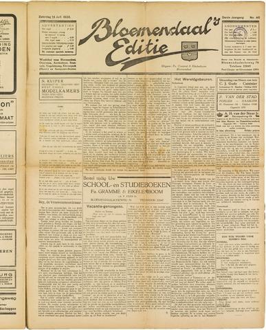 Bloemendaal's Editie 1928-07-14