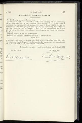 Raadsnotulen Heemstede 1955-06-30