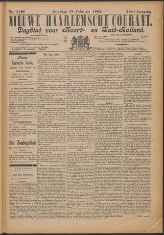 Nieuwe Haarlemsche Courant 1905-02-18