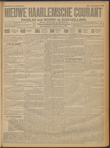 Nieuwe Haarlemsche Courant 1914-01-24