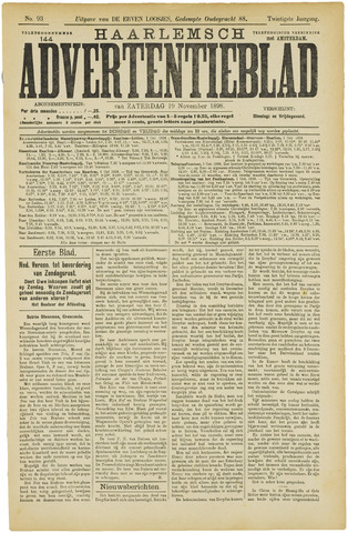 Haarlemsch Advertentieblad 1898-11-19