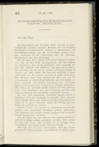 Raadsnotulen Heemstede 1930-07-10