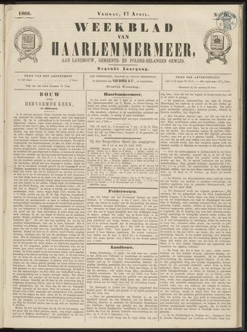 Weekblad van Haarlemmermeer 1868-04-17