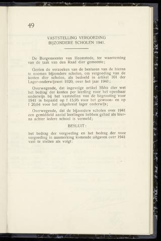 Raadsnotulen Heemstede 1942-11-19