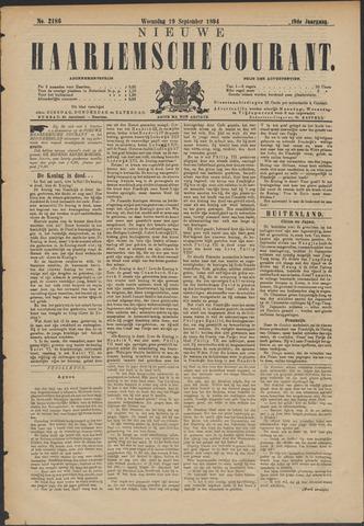 Nieuwe Haarlemsche Courant 1894-09-19