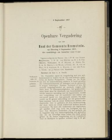 Raadsnotulen Heemstede 1917-09-04
