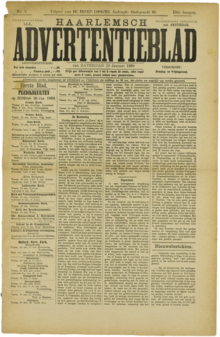 Haarlemsch Advertentieblad 1889-01-19