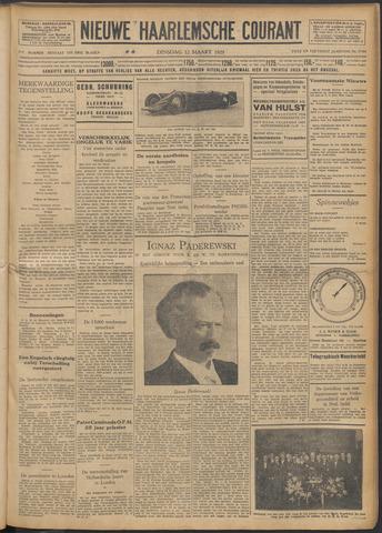Nieuwe Haarlemsche Courant 1929-03-12