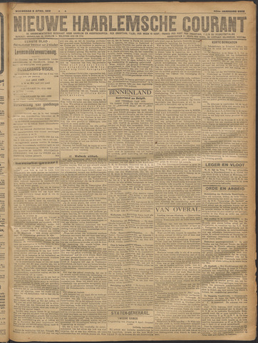 Nieuwe Haarlemsche Courant 1919-04-09