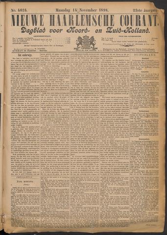 Nieuwe Haarlemsche Courant 1898-11-14