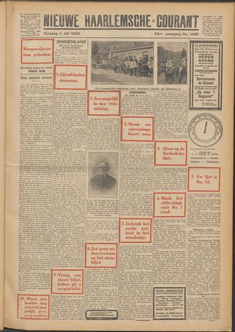 Nieuwe Haarlemsche Courant 1922-07-04