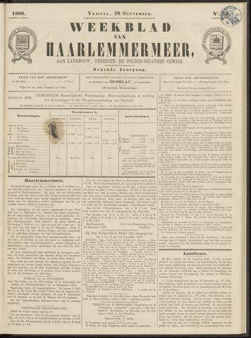 Weekblad van Haarlemmermeer 1868-09-18