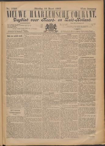 Nieuwe Haarlemsche Courant 1903-03-10