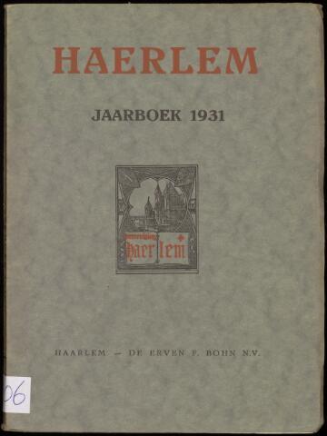 Jaarverslagen en Jaarboeken Vereniging Haerlem 1931