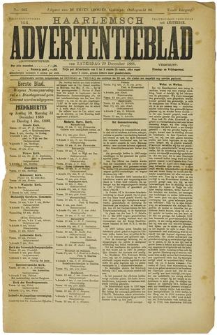 Haarlemsch Advertentieblad 1888-12-29