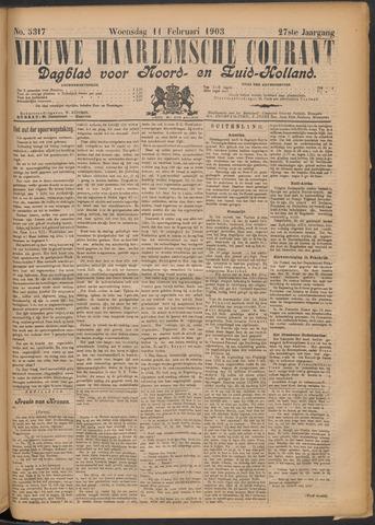 Nieuwe Haarlemsche Courant 1903-02-11