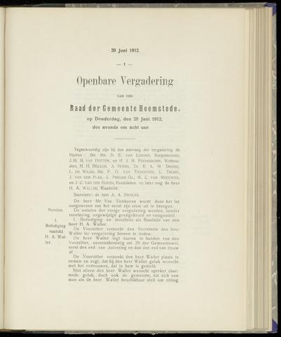 Raadsnotulen Heemstede 1912-06-20