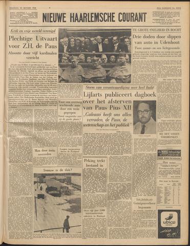 Nieuwe Haarlemsche Courant 1958-10-20