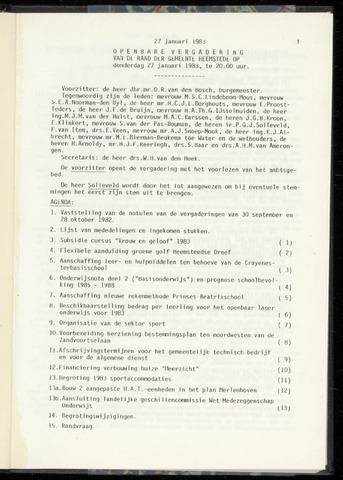 Raadsnotulen Heemstede 1983-01-27