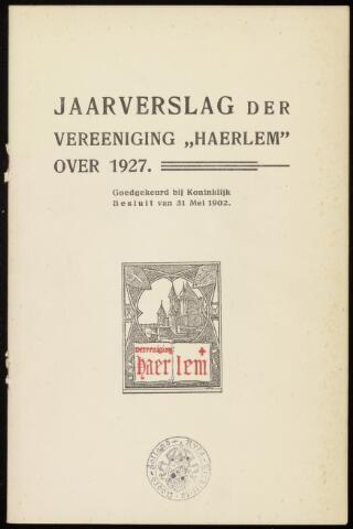 Jaarverslagen en Jaarboeken Vereniging Haerlem 1927